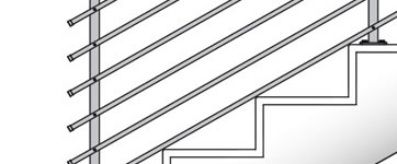 guarda-corpos para escadas de concreto