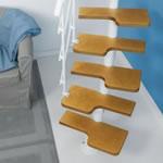 escada para os espaços reduzidos